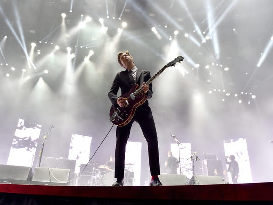Interpol perform onstage during day 1 of the 2015 Coachella
