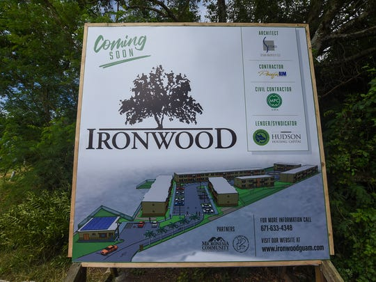 A projected Ironwood property image is displayed at the Villa Del Mar Low Income Housing Tax Credit Project groundbreaking ceremony in this Nov. 21, 2017, file photo.