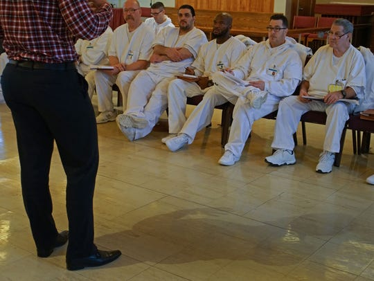 Inmates at Jame T. Vaughn Correctional Center participating