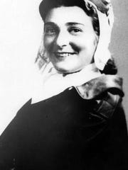 A young Bernice 'Bee' Falk Haydu in the 1940s.