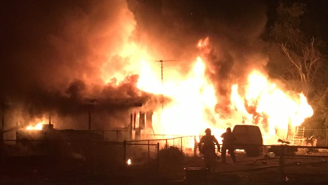 Tulare County Fire Department was called just before midnight on Thursday to the home near Avenue 152 and Road 190, in Poplar.