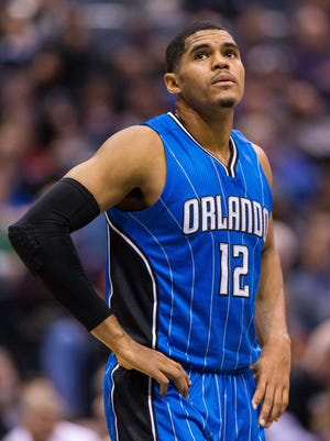 Tobias Harris with the Orlando Magic. The Detroit Pistons acquired the 23-year-old forward in a trade Feb. 16, 2016.