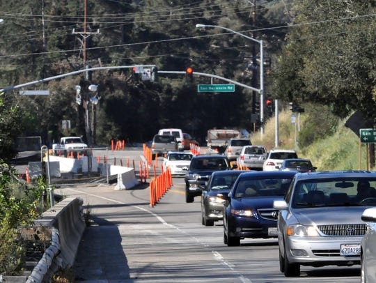 FILE PHOTO: Traffic on Highway 68 coming into Salinas from Corral de Tierra during a past construction project.