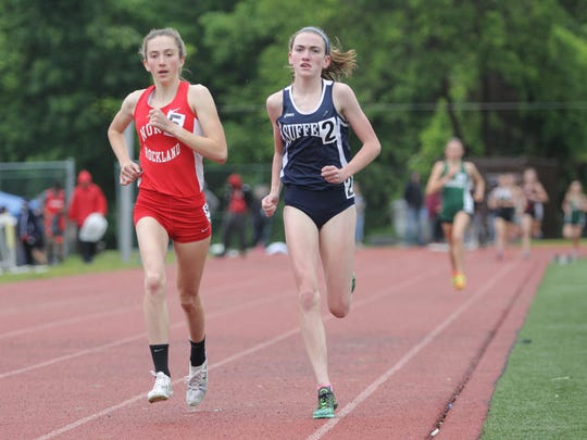 North Rockland's Alex Harris, left, and Suffern's Mary