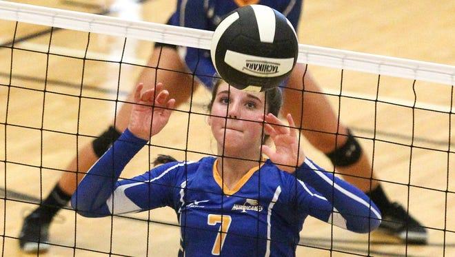 Caroline Cromer, a rising junior at Wren High School, during play against at T.L. Hanna High School.
