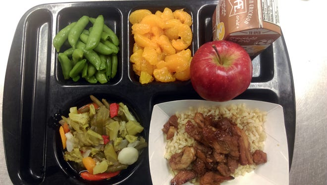 An example of a recent lunch from Saydel High School.