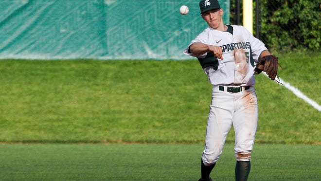 Jordan Zimmerman is leading the Big Ten with a .437 average while playing first base for Michigan State.