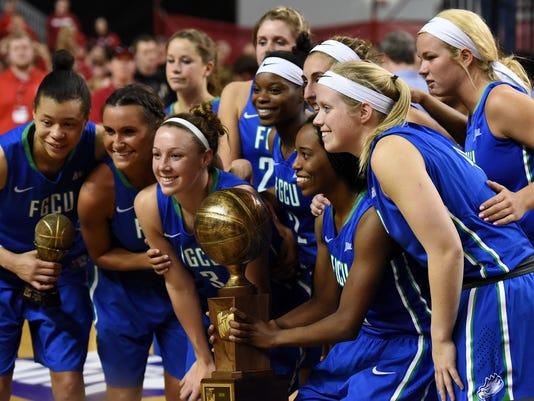 USD - Women's Basketball - Championship - Florida Golf Coast University - FGCU - WNIT championship game