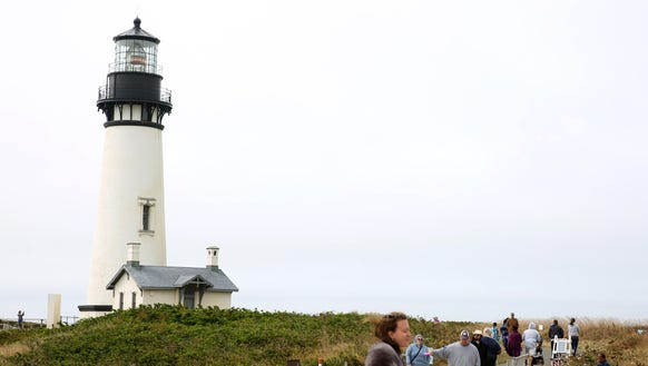 The Yaquina Head Lighthouse in Newport, Ore., on Sunday,