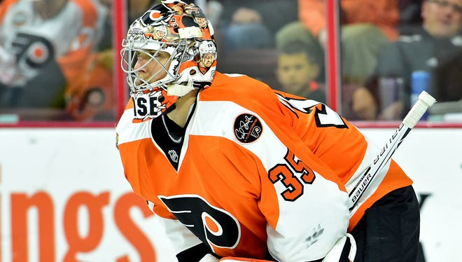 Steve Mason was pulled from his last start after allowing three goals on 13 shots.