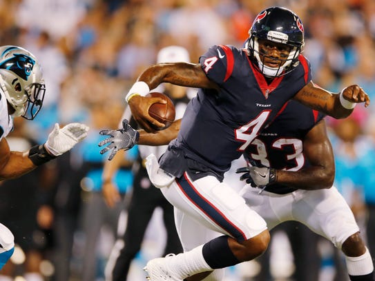 FILE - In this Aug. 9, 2017, file photo, Houston Texans
