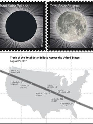 US Postal Service Forever Stamp of the Solar Eclipse
