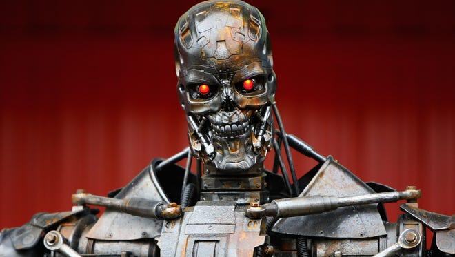 Terminator robot in 2009 in Barcelona.