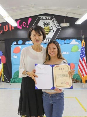 Guam Korean School held a vacation ceremony on May 12, 2018.