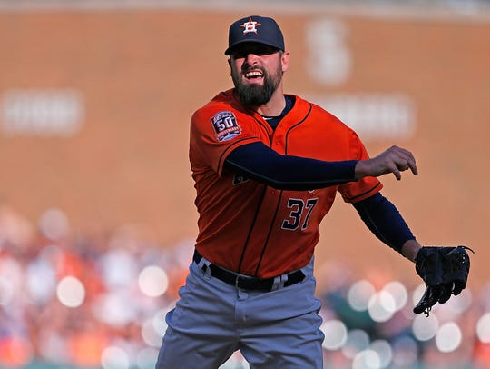 Houston Astros reliever Pat Neshek during a game against