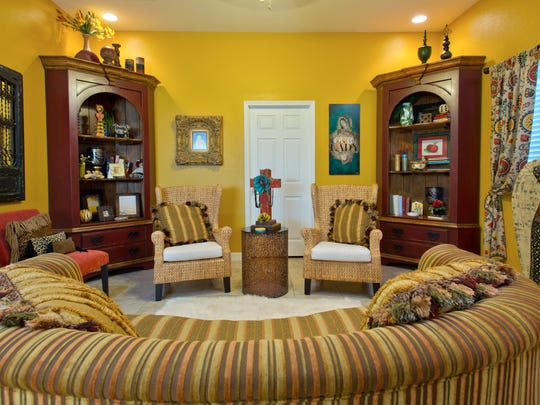 Once upon a time, this colorful guest house was a large