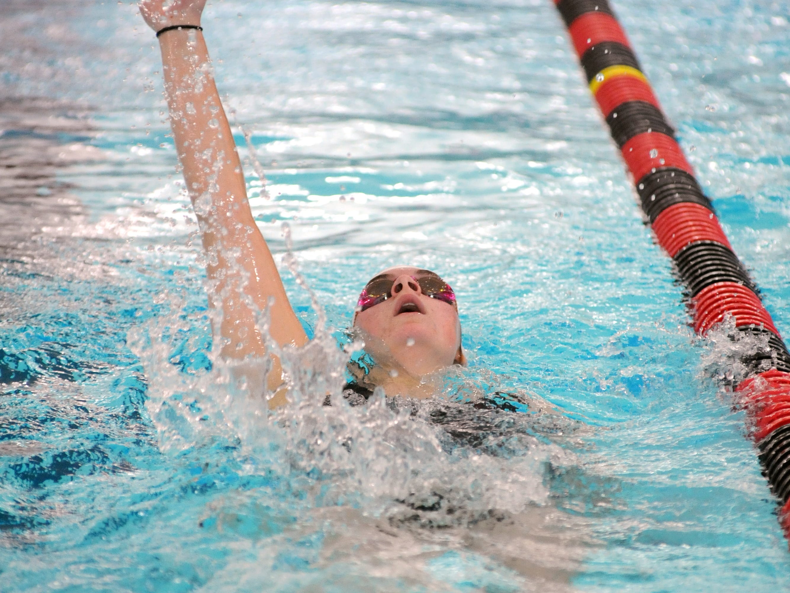 John Glenn's Katelyn Beck competes in the 200 meter individual medley Saturday during the 2015 Coshocton Invitational at Coshocton High School.