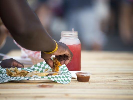 Queso Good food truck, quesadillas and lemonade at Chandler Food Truck Friday