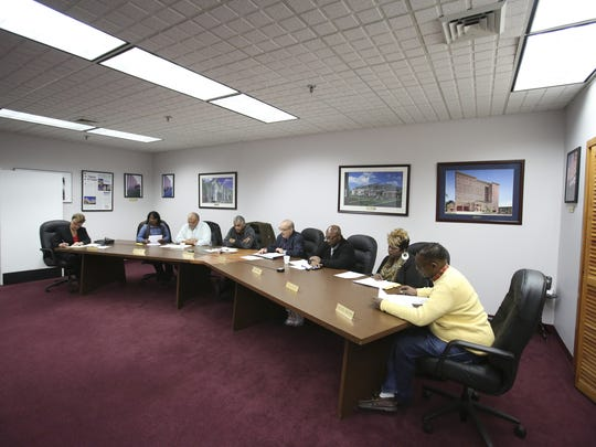 The Wilmington Housing Authority board meets at its Walnut Street headquarters.