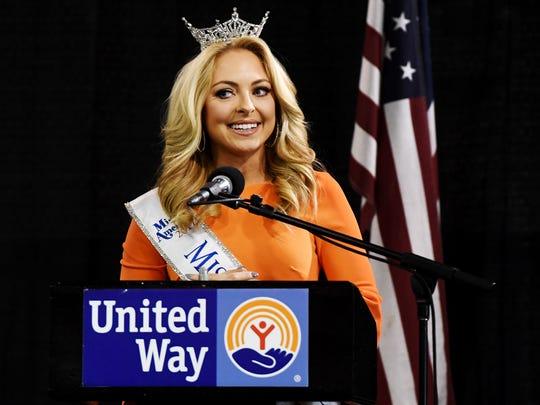 Miss Tennessee 2017 Caty Davis gave the keynote speech