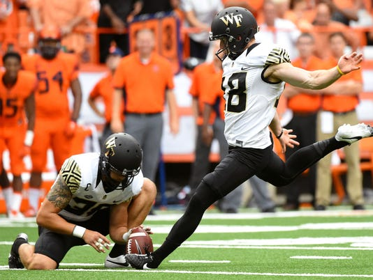 NCAA Football: Wake Forest at Syracuse