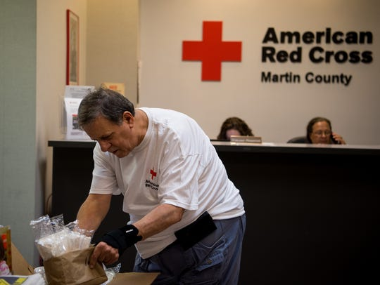 American Red Cross volunteers prepare ahead of Hurricane