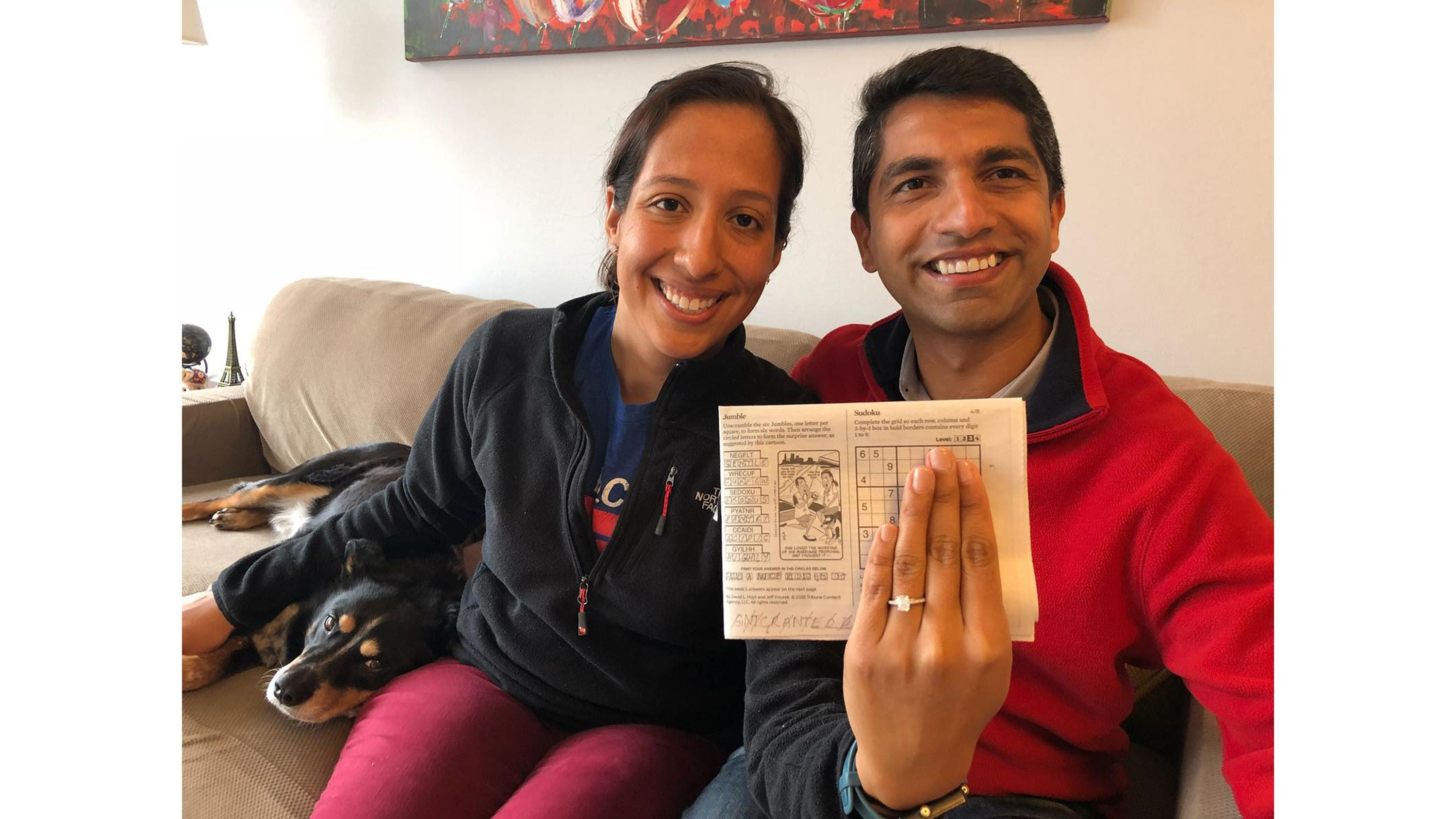 picture about Chicago Tribune Daily Sudoku Printable named Guy proposes towards girlfriend in just Tribune Jumble puzzle
