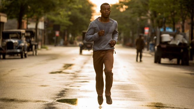 """Stephan James is Jesse Owens in Stephen Hopkins' """"Race."""" Based on a true story, the legendary athletic superstar is thrust onto the world stage of the 1936 Olympics, where he faces off against Adolf Hitler."""