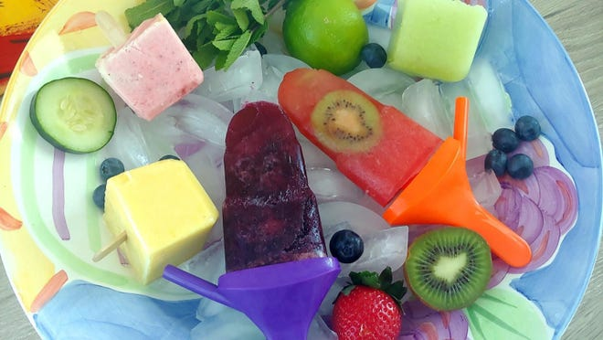 While under stay-at-home orders due to COVID-19, gather up ingredients and make your own popsicles.