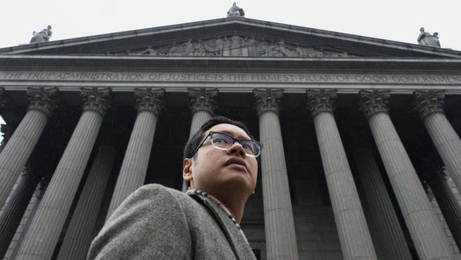 """ACLU lawyer Dale Ho in a scene from """"The Fight"""""""