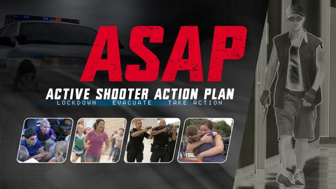 "The six-minute ""Active Shooter Action Plan"" video is being shown to teachers in several districts this summer as they prepare for the beginning of the school year. The video simulates an armed intruder in a school.  coyote crisis consortium inc."