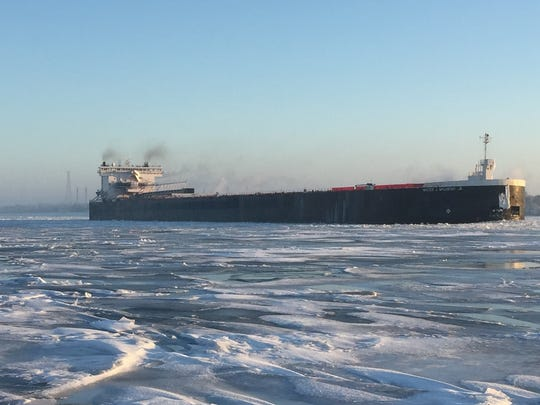 The Walter J. McCarthy travels southbound Tuesday on