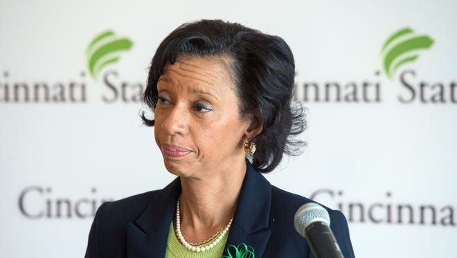 Monica Posey was introduced Friday as the first female African-American president of Cincinnati State.