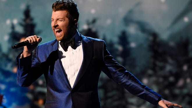 Brett Eldredge performs at the CMA Country Christmas at the Grand Ole Opry House on Nov. 8, 2016, in Nashville.