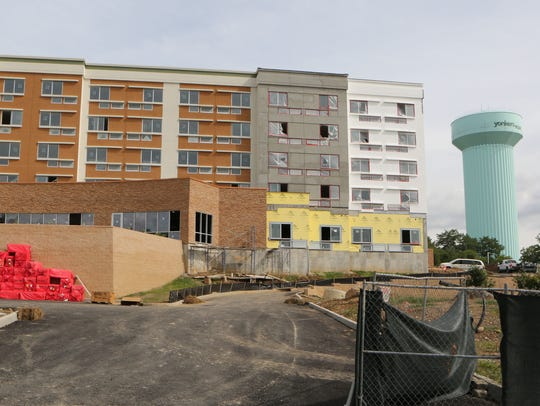 The Courtyard Marriott under construction off of Executive