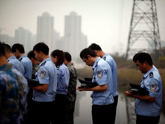 EPA CHINA CHEMICAL EXPLOSIONS MOURNING DIS DISASTERS (GENERAL) CHN TI