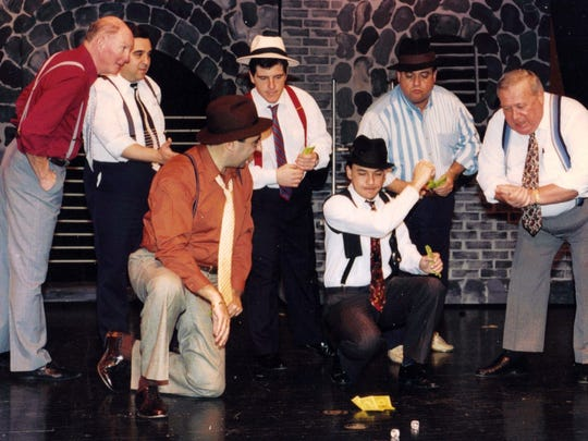 "The North Brunswick Adult Drama Group, one of the township's longest running continuing programs, debuted in 1971 with a production of ""Guys and Dolls.""  The show was later re-staged as the 10th production in 1980 and again as the 25th production in 1995 (shown).  Director Michael C. Hritz has indicated that ""Guys and Dolls"" will be the group's 50th production in 2020.   ~ ."