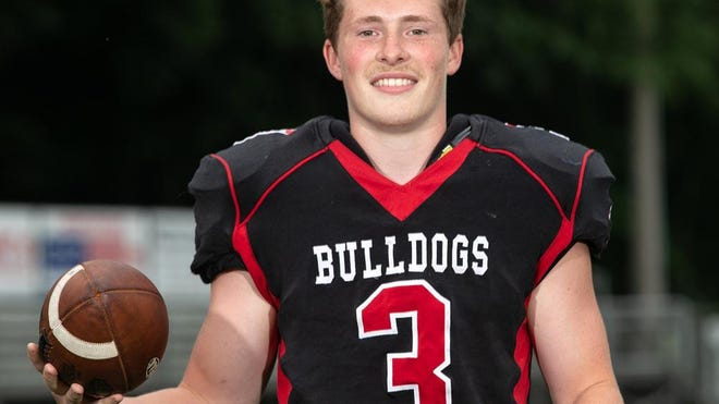 Meadville's Sam Burchard, QB/S, is shown at Meadville High School on July 7, 2020.