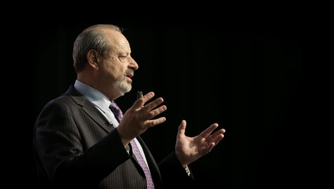 Mayor Oscar Leeser delivers his State of the City address Wednesday night at the Judson F. Williams Convention Center. He said Thursday he will take approximately four weeks off to deal with health issues.