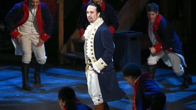 "Evan Agostini/Invision/AP Lin-Manuel Miranda and the cast of ?Hamilton? perform at the Tony Awards in New York. Miranda said that he is leaving his show this summer. FILE - In this June 12, 2016 file photo, Lin-Manuel Miranda and the cast of ""Hamilton"" perform at the Tony Awards in New York. ""Hamilton"" took home 11 Tony Awards. Miranda said Thursday, June 16, 2016, that he is leaving his show this summer. Miranda said Thursday his last performance will be July 9.  (Photo by Evan Agostini/Invision/AP, File)"
