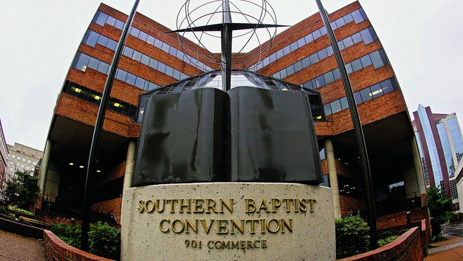 In this Dec. 7, 2011, file photo, the headquarters of the Southern Baptist Convention is shown in Nashville. On Monday, Oct. 14, 2013, a division of the Southern Baptist Convention said it is suing the federal government over the contraceptives regulation of the Affordable Care Act.