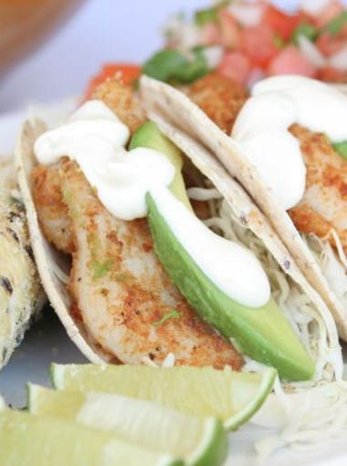 Christina Grubb | Baja fish tacos with three salsas