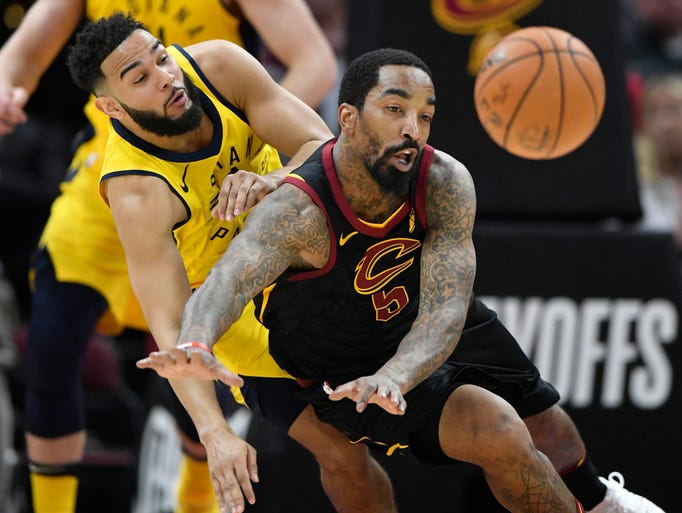Indiana Pacers guard Cory Joseph (6) and Cleveland