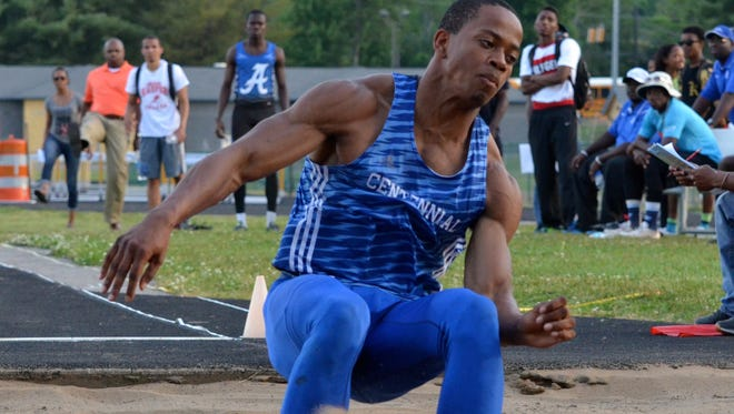 Centennial senior Emanuel H?all claimed a second-place finish in Friday's long jump.