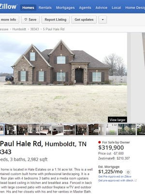 The listing for Pinkerton's house on the website Zillow.