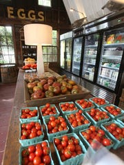 Fresh produce and other items in Blue Barn Farm Market at Valley Rock Inn in Sloatsburg.