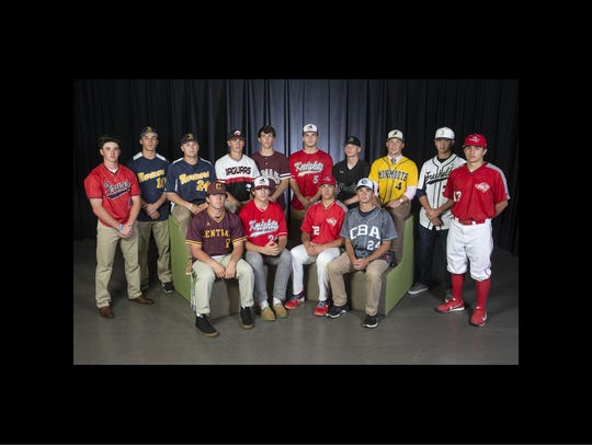 The 2018 All-Shore Baseball team- Sitting front row: