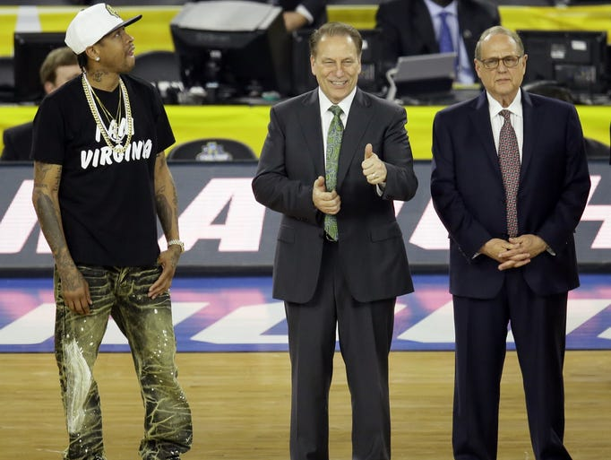 Retired NBA player Allen Iverson, Michigan State head