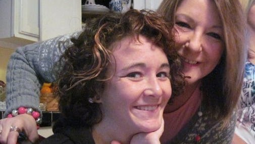 Aunt Jenny and me at Thanksgiving in 2010