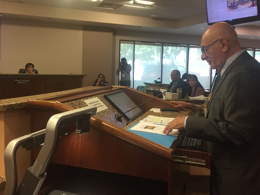 Richard Dayoub presents charter election recommendations to City Council